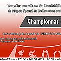 Championnats 2018 - programme de la manifestation