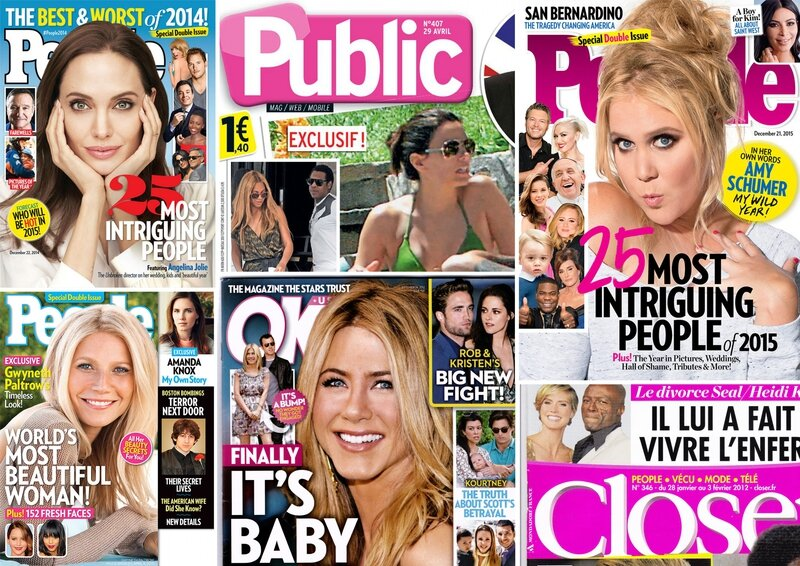 Montage couvertures magazines people