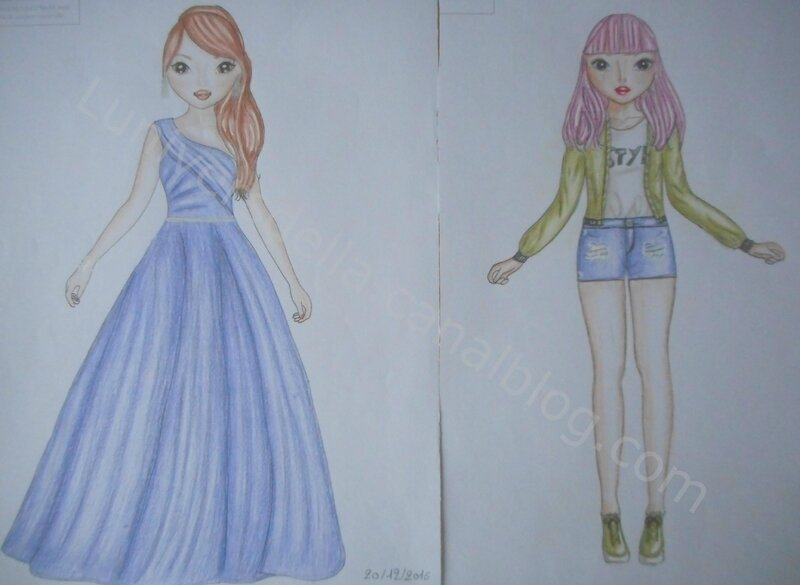 Anciens Dessins Top Model 3 L Univers D Ella