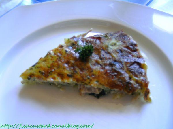 Quiche sans pâte légère au poulet, courgettes et cancoillotte (4)