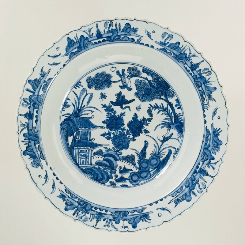 Charger with and river landscape, Wanli period (1573-1619), c