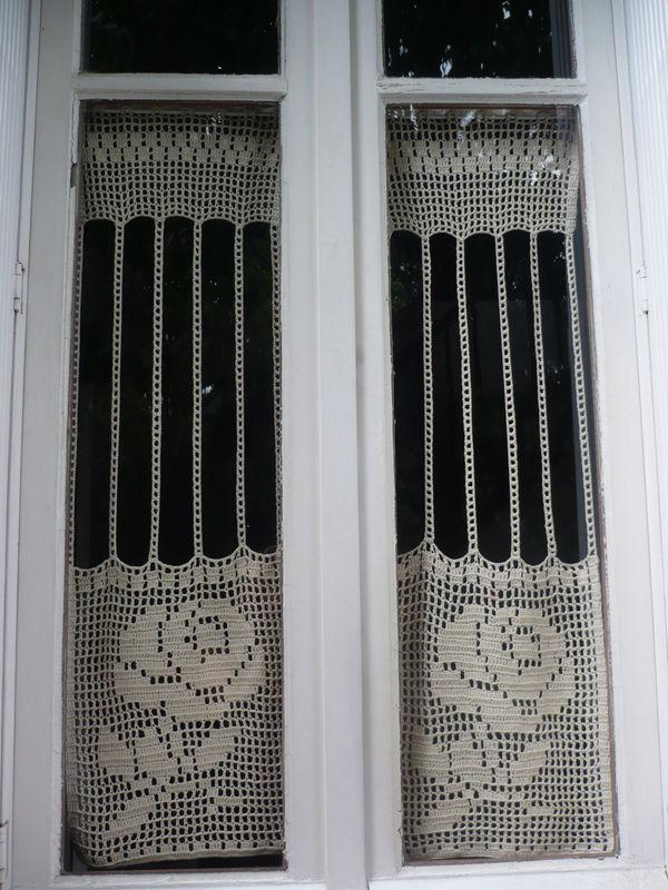 Rideaux rétro en coton, crochet 2.5 - Photo de Crochet - \