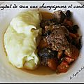 Ragôut de veau au champignons et carottes (carne de vaca estufada )