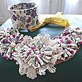 Autre style de collier textile avec des allures romantiques