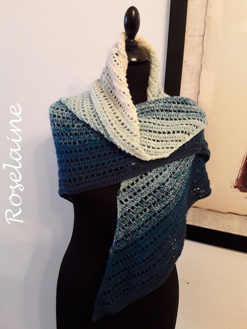 Roselaine tricot écharpe scarf 3