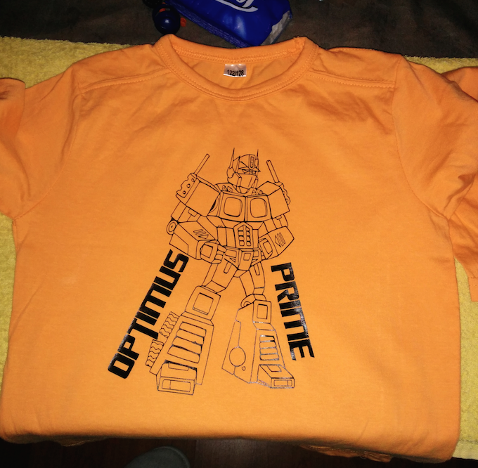 Teeshirt optimusprime orange - copie