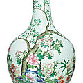 A famille-rose 'floral' vase, qianlong seal mark and period (1736-1795)
