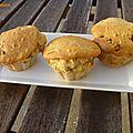 Muffins sains aux flocons d'avoine et raisins secs