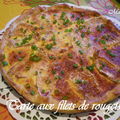 Tarte aux filets de rougets