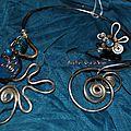 Bracelet et broche pour aller avec collier al1467
