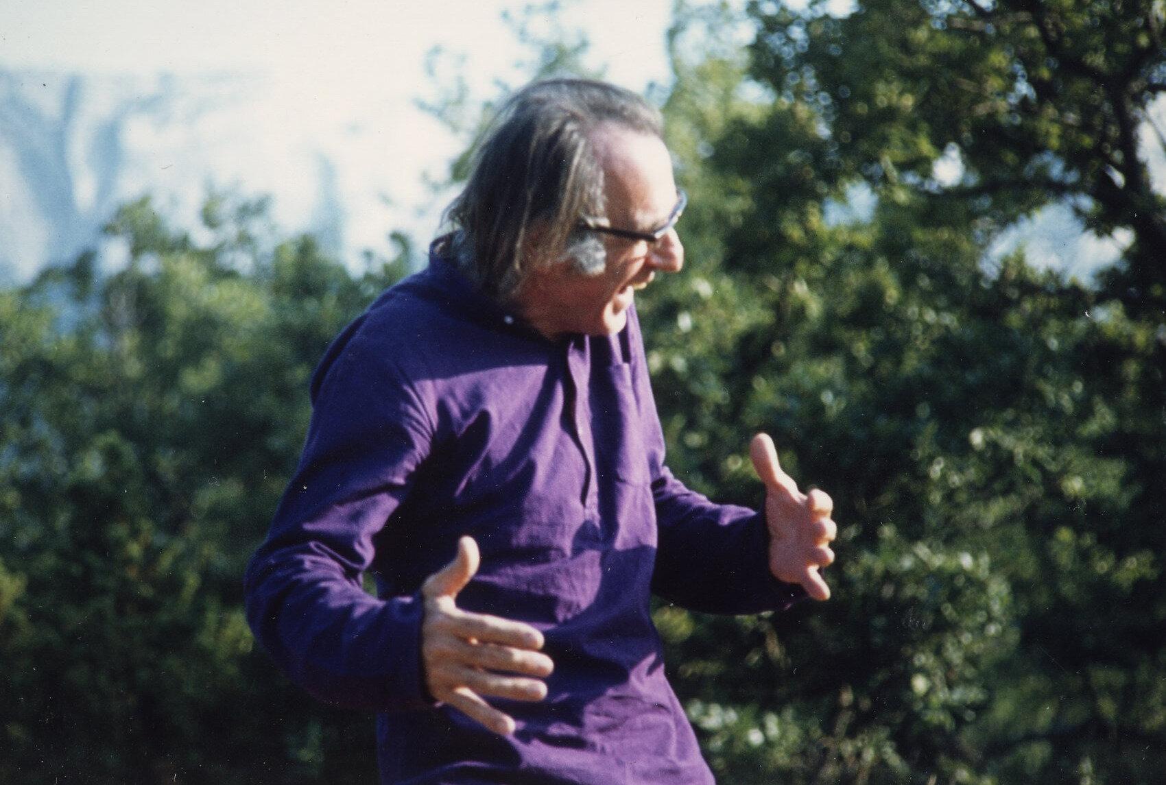Henri Cordreaux en 1972 à la Sainte-Baume