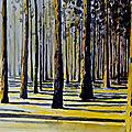 Forêt à l'aquarelle.