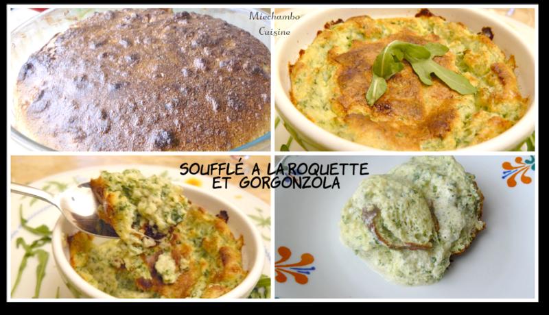 Soufflé à la Roquette et au Gorgonzola