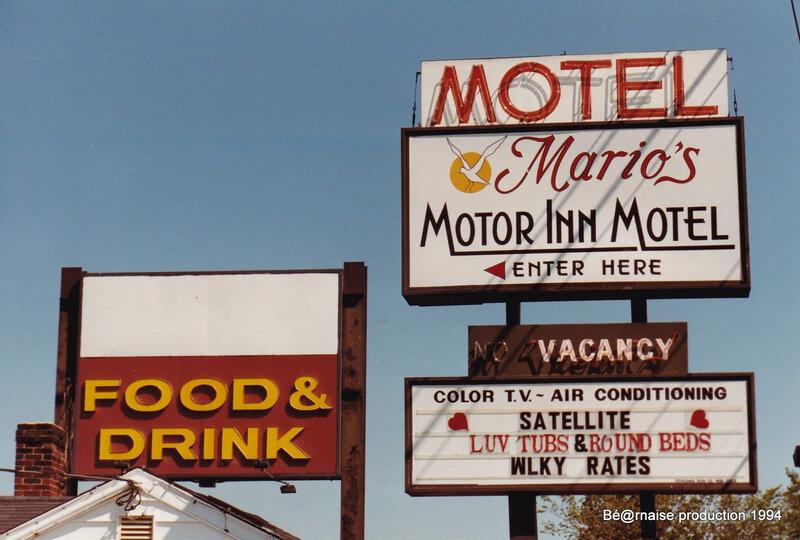 Mario's Motor Inn Motel (Peabody, Etats-Unis, avril 1994)