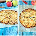 Tarte fine aux pommes et gelée de nèfles