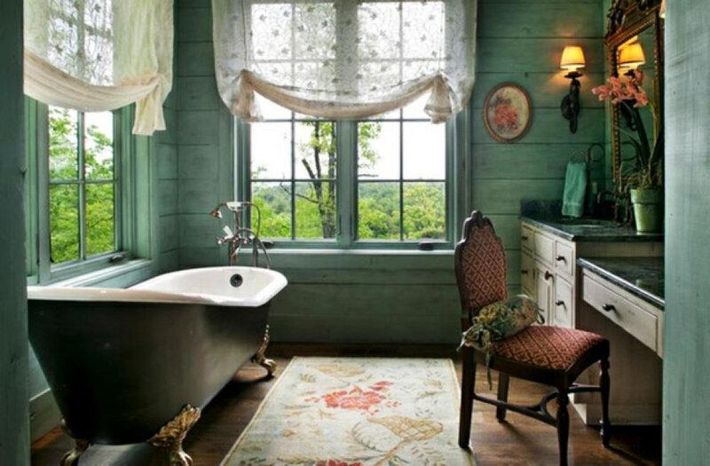 salle-de-bain-rustique-deco-verte