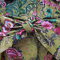 Ciré AGLAE en coton enduit jeune fleuri fermé par un noeud (3)