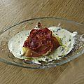 Quenelles de polenta & mascarpone, jambon cru