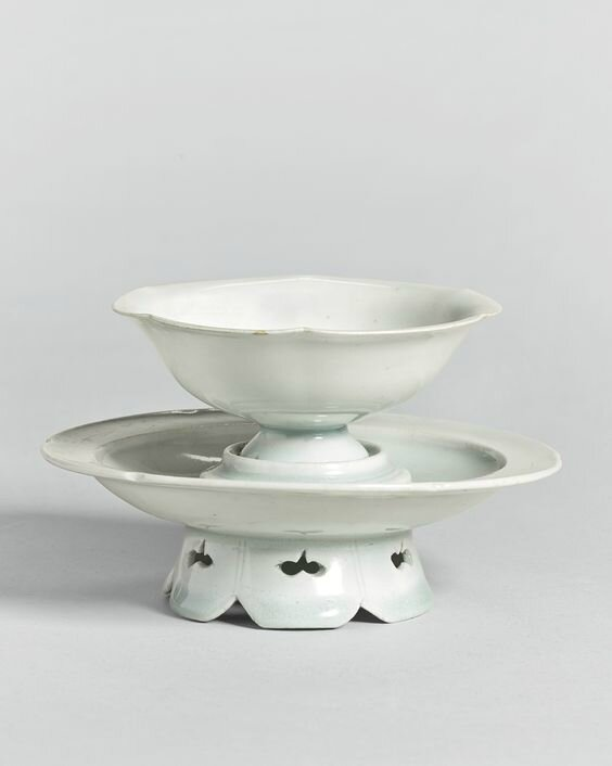 A 'Qingbai' foliate cup and stand, Song dynasty from the Yang De Tang Collection