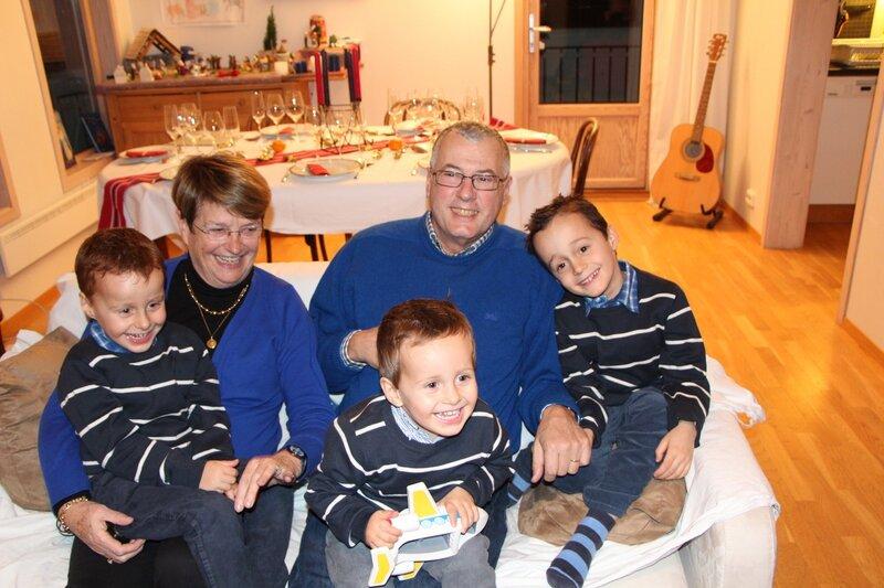 Mamoun et bon papa et les garcons