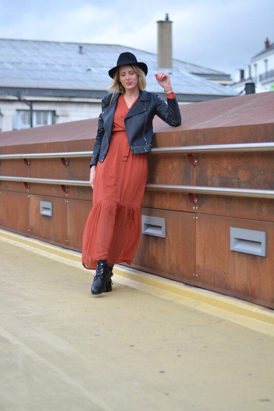 robe longue rouille - styliz (6)