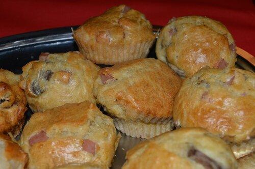 Muffins jambon champignon