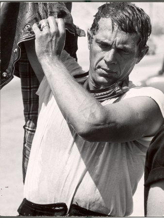 840471_Actor_Steve_McQueen_During_Motorcycle_Racing_Across_the_Mojave_Desert_Posters