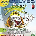 Les 100 km de belvès 2015 - mon 1er cent borne