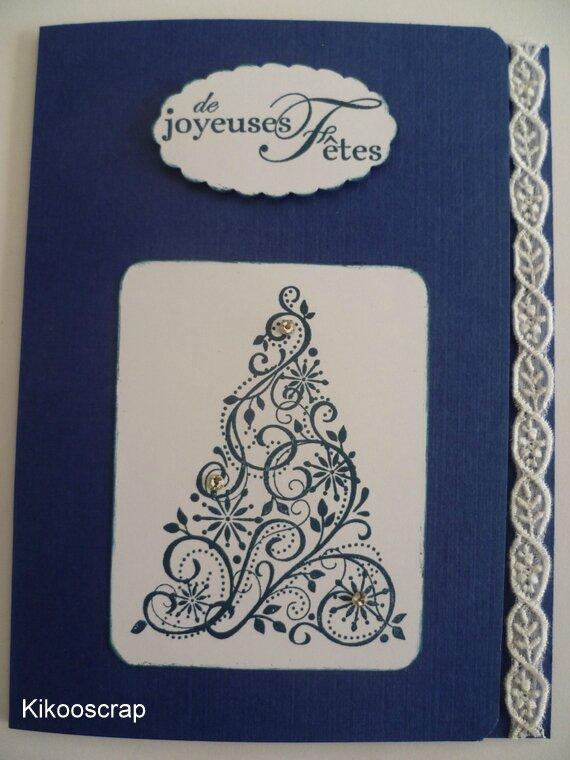 Carte de voeux bleue 2