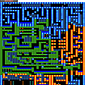 Space mazes map