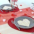 Ma table de st-valentin ♡
