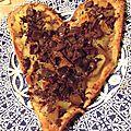 Coeur feuilleté poire, gingembre et chocolat