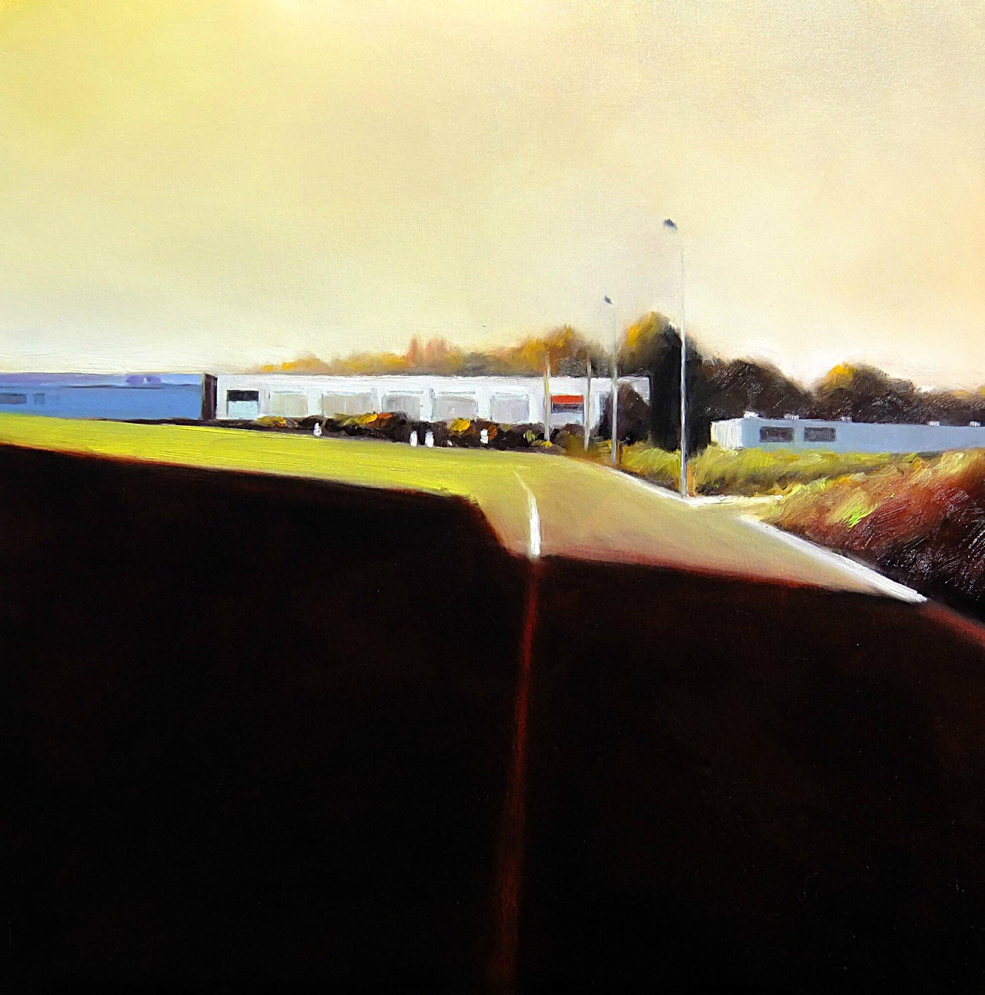K'nowhere 63, mars 2016, huile sur toile, 70 x 70 cm