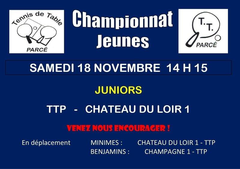 Affiche Championnat Jeunes J 1