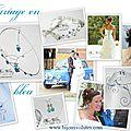 Mariage en bleu : bijoux de mariage avec perle bleue et turquoise