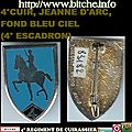 4°CUIR, JEANNE D'ARC, FOND BLEU CIEL (4° ESCADRON)