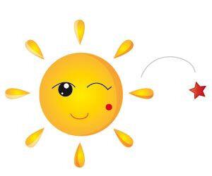 clin d'oeil du soleil