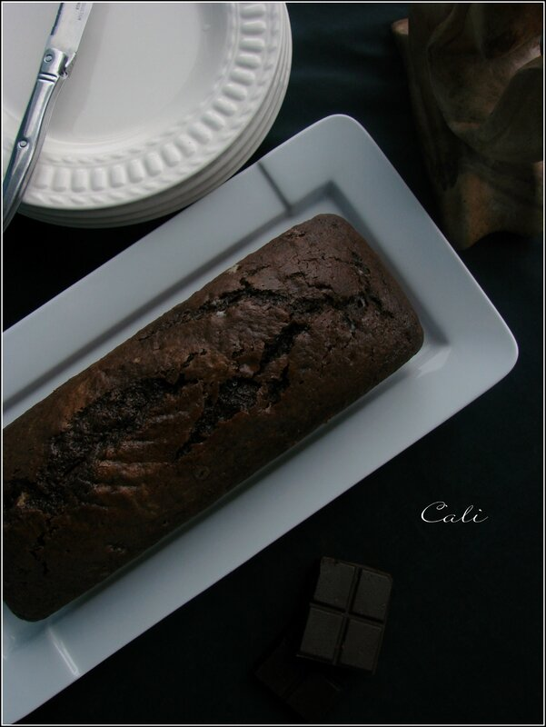 Cake Chocolat & Pâte d'Amande 001