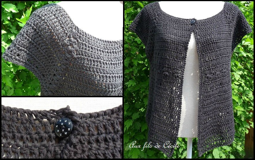 Gilet garden CK 21 version crochet