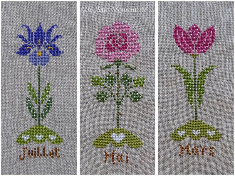 fleurs de juillet, mai et mars