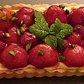 Tarte aux fraises mascarpone