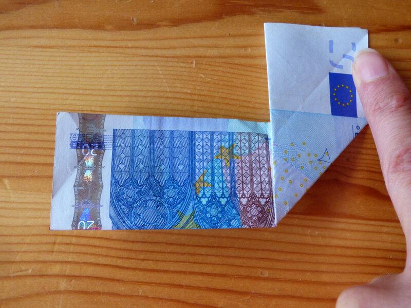 Origami en euros (3)