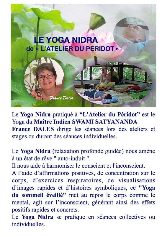 Flyer Yoga Nidra recto