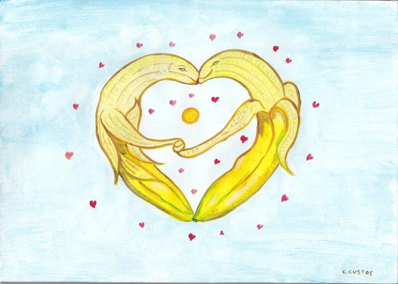 joyeuse Saint-Valentin ( les produits apphrodisiaque 8 la banane )