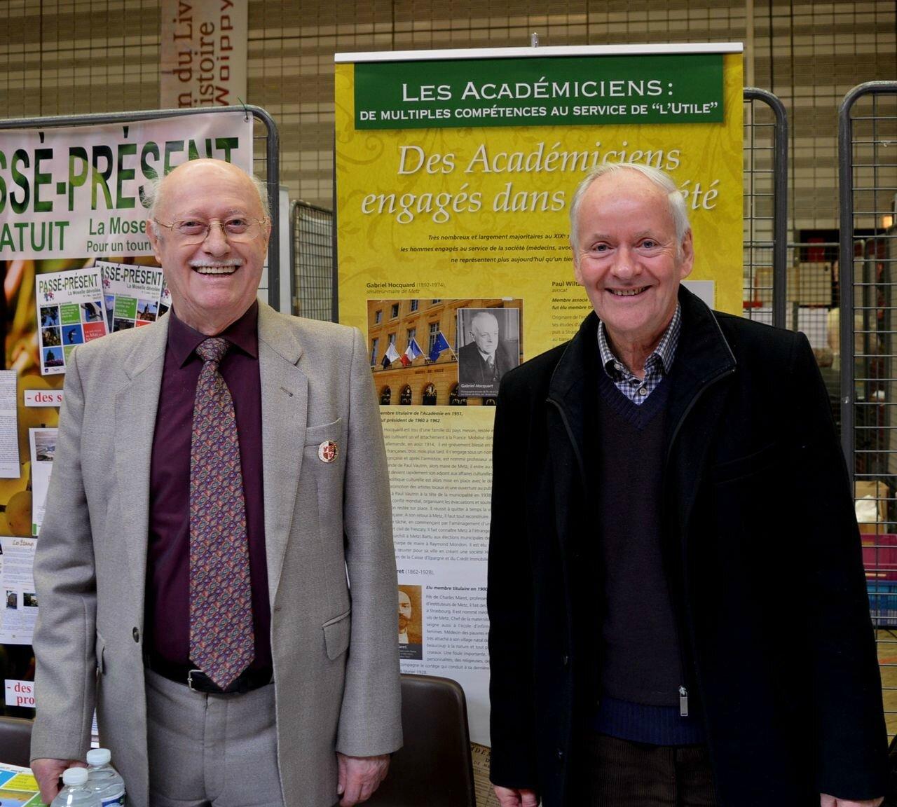 Gilbert Rose et René Schneider représentent la docte Académie nationale de Metz