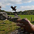 La terrade et ses sculptures