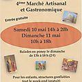 Marché artisanal de bailleval (60) les 10 et 11 mai 2014