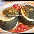 Courgettes rondes geantes farcies ...