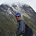 en frente de la cresta del Ruminahui