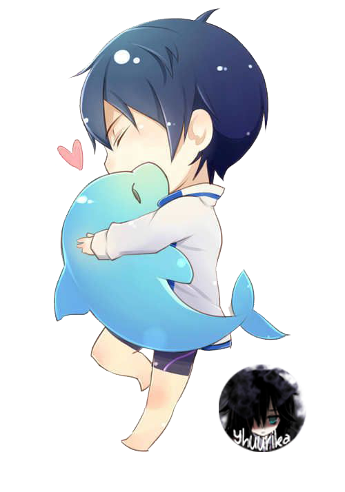 __chibi_haruka_with_dolphin_render___by_yhuurika-d9a8n8n